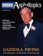 Gazzola Paving featured in Asphaltopics, Spring 2002