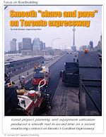 Gazzola Paving milled and repaved the Gardiner Expressway in Toronto