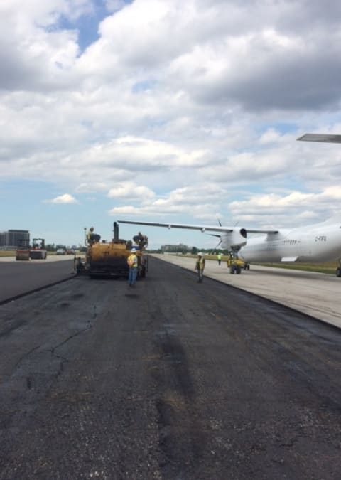 Gazzola Paving helped to pave runways at Lester B. Pearson International Airport
